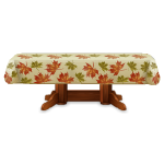 Dining Table with Fall Leaves Tablecloth
