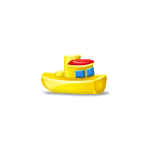 Yellow Toy Boat Advent Gift