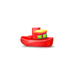 Red Toy Boat Advent Gift