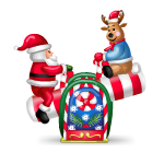 Santa and Reindeer on See-Saw