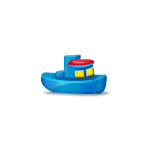 Blue Toy Boat Advent Gift