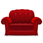 Red Vintage Armchair