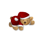 Sleeping Christmas Teddy Bear