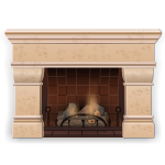 Clay Fireplace