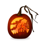 Haunted House Jack o Lantern Pumpkin