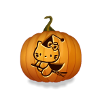 Flying Kitty Jack Pumpkin