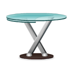Glass Round Table by Petssoni