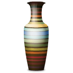 Multicolor Striped Vase by Petssoni