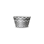 Classic Black and White Striped Bowl by Petssoni