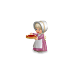 Pilgrim girl with cake plushie