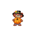 Bear with Pumpkin Plushie
