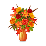 Fall Dried Flowers in Vase