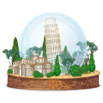 Leaning Tower of Pisa Giant Snow Globe