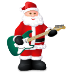 Animated Santa Guitar Player
