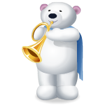Animated Polar Bear Trumpet Player