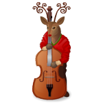 Animated Reindeer Bassist