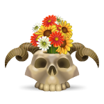 Antelope Skull Flower Arrangement