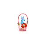 Easter Basket with Blue Bunny