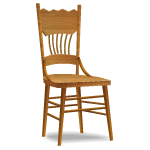 Angled Early American Chair