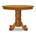 Round Top Oak Table