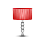 Red Silk Shade Lamp by Petssoni