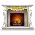 European Rococo Marble Fireplace