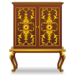 Bar Cabinet in Rococo Style