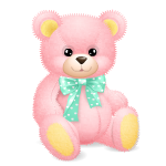 Supersize Pink Teddy Bear with Teal Bow
