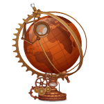Steampunk Globe with Magnifier