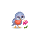 Spring Bird with Flower