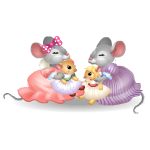 Mice Girls Playing Dolls