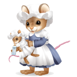 Nanny Mouse with Baby