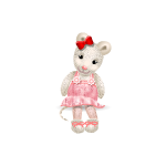Knitted Mouse Girl Toy