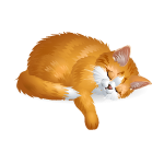 Ginger Sleeping Cat