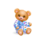 Cute Teddy Boy in Dotted Pajamas