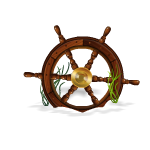 Sunken Fishing Boat  Wheel