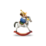 Nutcracker Mouse Knight on Toy Horse
