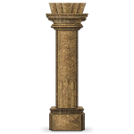 Rivenville Antique Stone Pillar