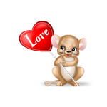 Loverboy Mouse with Love sign