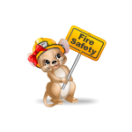 Animated Mouse With Fire Safety Sign