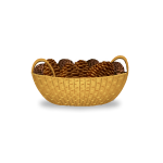 Basket of Pine Cones