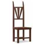 Angled Dwarf Wooden Chair