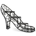 Wrought-Iron Shoe Plant Stand