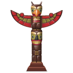 Dark Wood Totem Pole