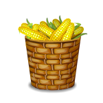 Toy Basket with Corn