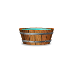 Small Wooden Pail With Water