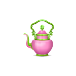 Pink and Green Wonderland Teapot