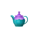 Teal Wonderland Teapot