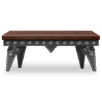 Riveted Forged Iron Table