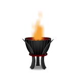 Gray Flaming Torch